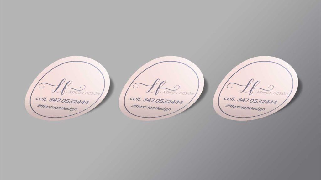 LF fashion design adesivi