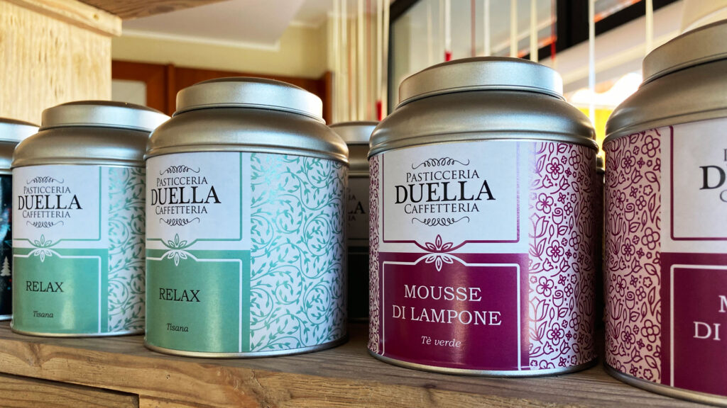 Etichette tè Duella
